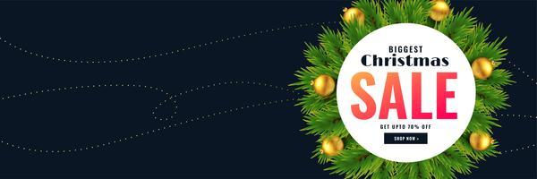 Kerst seizoen verkoop banner met tekst ruimte
