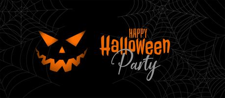 scary halloween party banner design