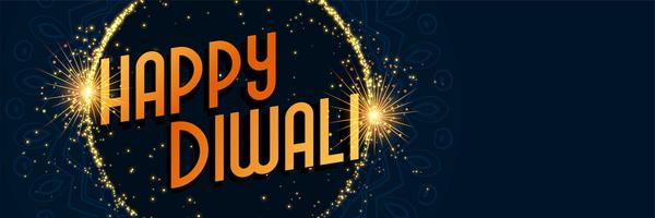 happy diwali sparkles background design