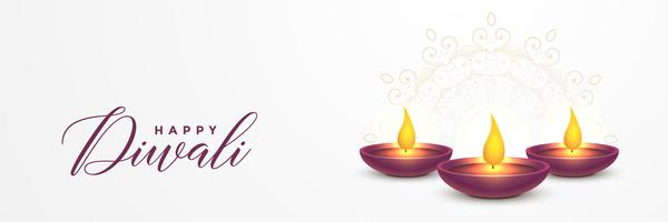 Festival Diya Diwali Banner Design