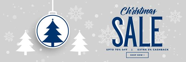 christmas holiday sale and discount banner design