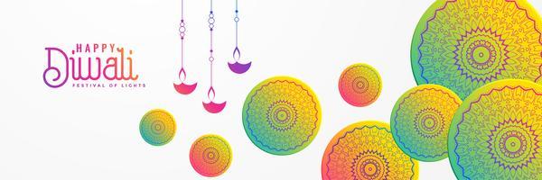 fond de festival artistique diwali avec mandala décoratif