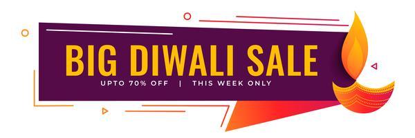 Gran venta de diwali y diseño de banner promocional.