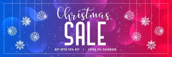 vibrerande glänsande julförsäljning banner design