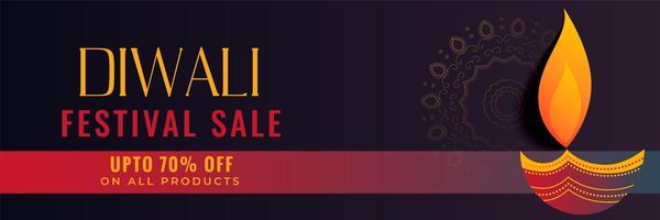 Diseño de banner creativo hindú diwali venta de festival
