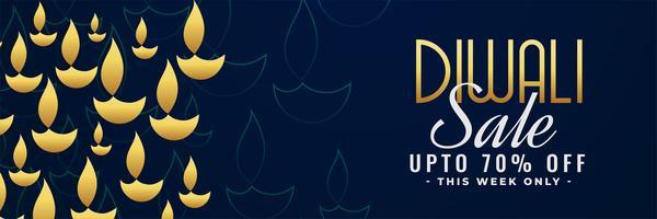 Diwali Sale Banner mit Angebotsdetails