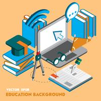 illustration of info graphic education set concept
