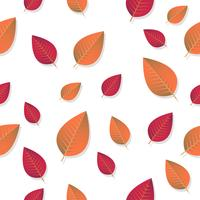 Seamless Leaves pattern Vector background