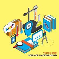 ilustração do conceito conjunto de ciência gráfica de informação