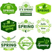 Spring Labels vector