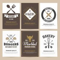 Restaurant Retro Vector Logo for banner