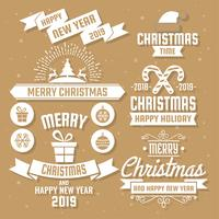 Logo vettoriale di Natale per banner