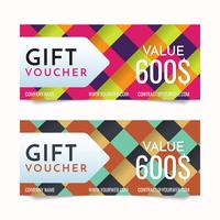 Gift Voucher Vector background for banner