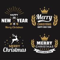 Logotipo de vetor de Natal para banner