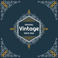 Vintage flyer background Design Template