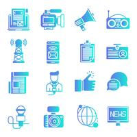 News gradient icons set