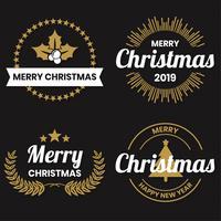 Logo vectoriel de Noël pour bannière