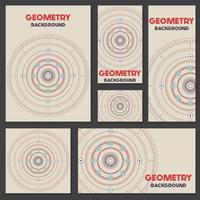 Old retro geometry Vintage style background Design Template