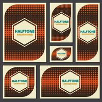 vintage halftone style background Design Template vector