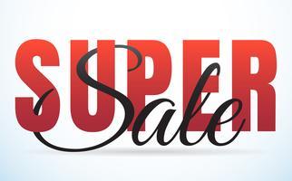 grande vendita modello banner sfondo vettoriale