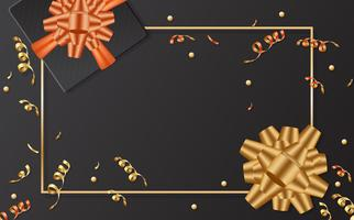 gift sale template banner Vector background