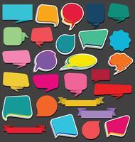 Verzameling van lege linten stickers en tags sjabloon
