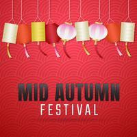 Mid Autumn Festival Sfondo vettoriale