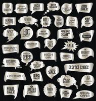 Emblemas e etiquetas premium de luxo