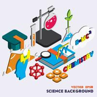 illustration of info graphic science set concept