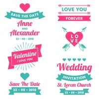 Boda Retro Vintage Vector Label