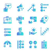 Feedback gradient icons set