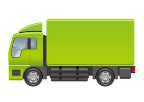 Truck illustration isolated on a white background.