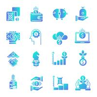 Finance gradient icons set