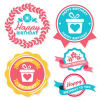 Happy Birthday Vector Logo for banner