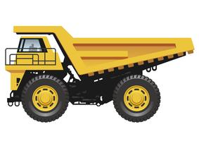 Big dump truck isolated on a white background.