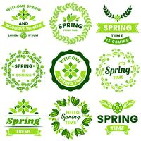 Frühling Retro Vintage Vector Label für Banner