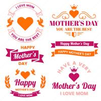 Mother Day Vector label per banner