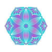 Immagine vettoriale di ornamento di mandala