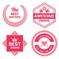 Mother Day Vector label for banner