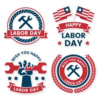 Labor Day Vector label for banner
