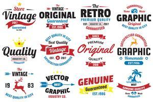 Vintage Retro Vector Logo voor banner