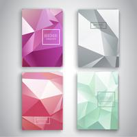 Design brochure low poly
