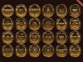 Luxe premium gouden insignes en labels