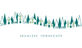 Seamless townscape, vektor illustration.