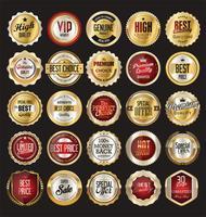 Luxus-Premium-Goldene Abzeichen und Etiketten