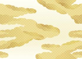 Seamless clouds pattern in the Japanese traditional style vector