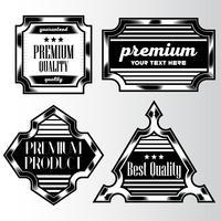 Plantilla de diseño de estilo de etiqueta de fondo vintage