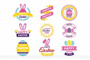 pasen retro vintage vector label