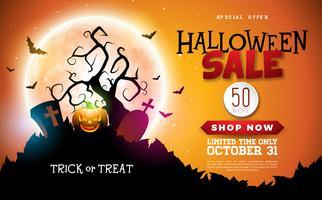 Illustration de bannière Halloween vente