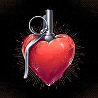 arte della granata del cuore